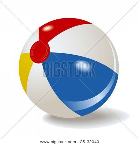 vector inflatable beach ball