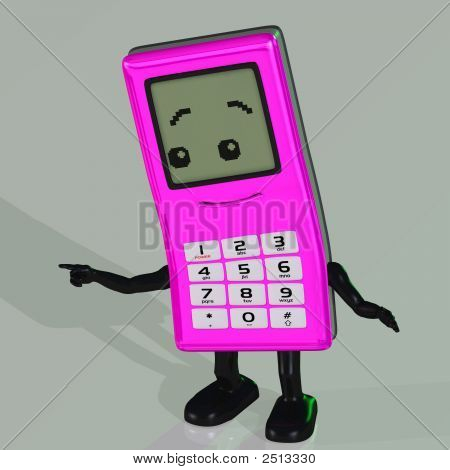 Cartoon Cell Phone