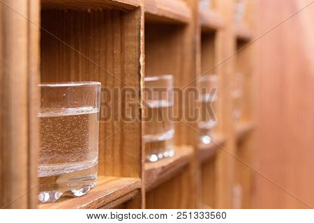 Shots In Perspective Are In Wooden Cells