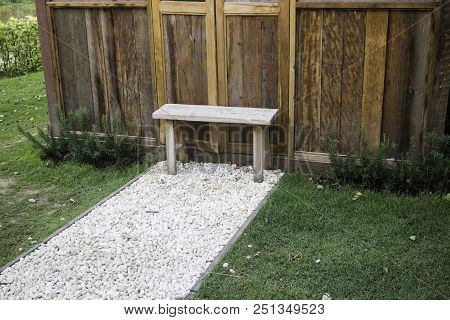 Lonely Seat In The Garden, Stock Photo