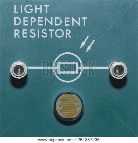 Light Dependent Resistor On A Green Block