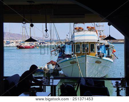 Fishing Boat  Moored In Mikrolimano Port Of Piraeus. Attica, Greece.