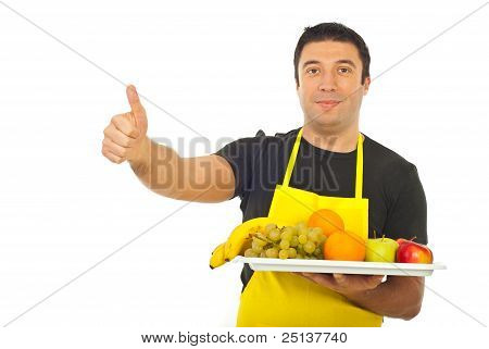 Successful Fruiterer Worker