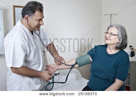 Doctor Exam Mature Patient