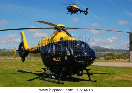 Two Police Helicopters