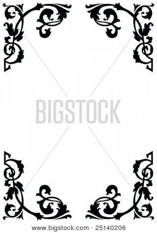 Victorian Ornamental Page Borders