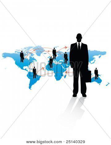 International Air Traveling Business Man