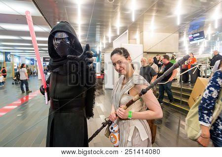 Montreal, Canada - 9 July 2017: Pop-culture Fan Convention Comic Con