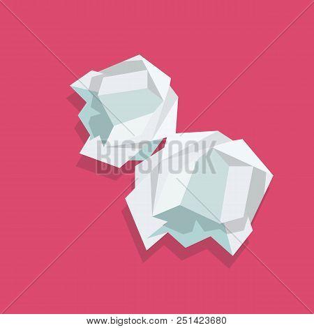 Crumpled Paper Ball. Vector Illustration Graphic Design