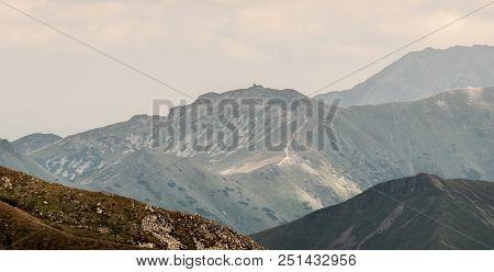 Kasprov Vrch (kasprowy Wierch) Peak On Slovakian - Polish Borders From Jakubina Peak In Western Tatr