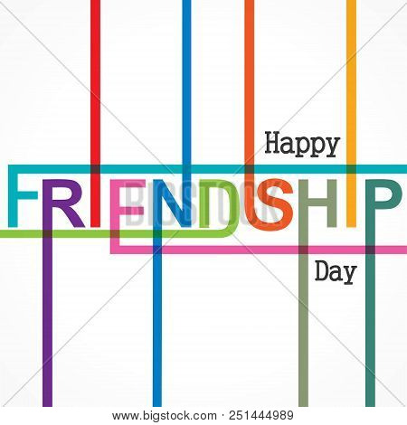 Happy Friendship Day Vector Typographic Design. Usable As Greeting Cards, Posters, Clothing, T-shirt