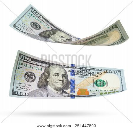 One Hundred Dollars Banknote Isolated On White Background