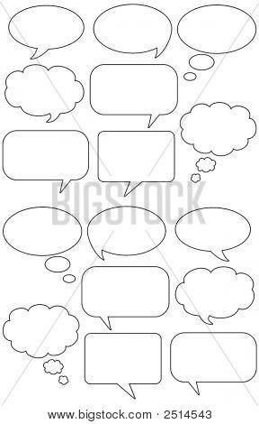 Cartoon Speech And Talk Bubbles