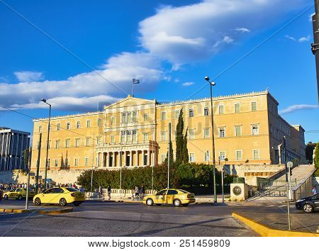 The Old Royal Palace, Greek Parliament Building. Syntagma Square, Athens.