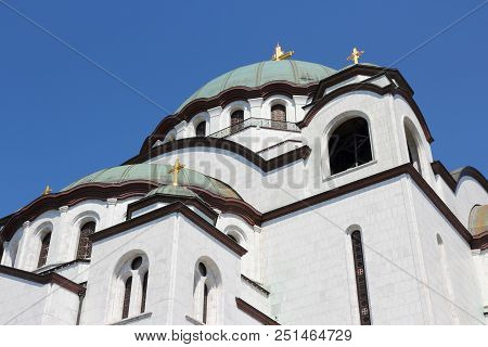 Cathedral Of St Sava In Belgrade, Serbia.