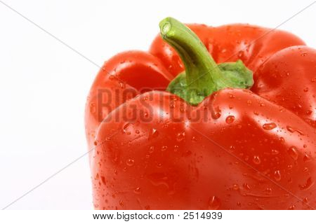 Isolated On White Red Bell-Pepper