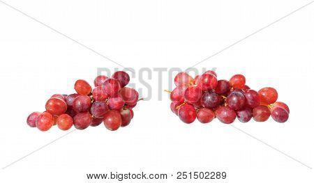Grapes Isolated On White Background With Clipping Path
