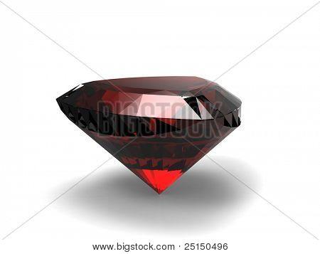 Jewelry gems shape of trillion. Ruby