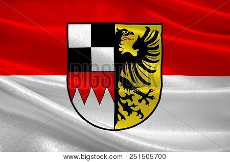 Flag Of Middle Franconia Is One Of The Three Administrative Regions Of Franconia In Bavaria, Germany