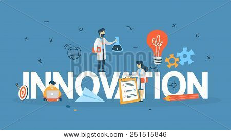 Innovation Concept. Idea Of Innovative Technology. Creative Mind. Light Bulb As A Metaphor Of Idea.
