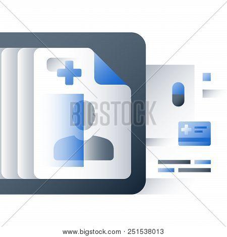 Medical Services, Health Care Insurance Policy, Medicine Prescription, Sick Leave Certificate, Annua