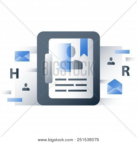 Human Resources, Recruitment Agency, Consider Candidate, Employment Concept, Resume Clipboard, Job A
