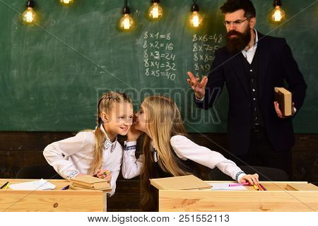 Child Development. School Education And Child Development Concept. Child Development Of Gorls In Sch
