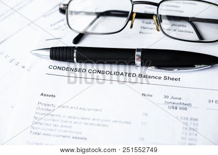 Balance Sheet In Stockholder Report Book, Analyze Income Statement Report For Investment Portfolio