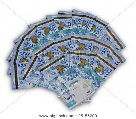 A fan of ten thousand Kazakhstan currency