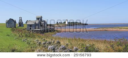Panoramic Of Playhouses And Lighthouse