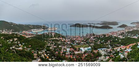 A Scenic Panoramic View Of St Thomas In The Us Virgin Islands.