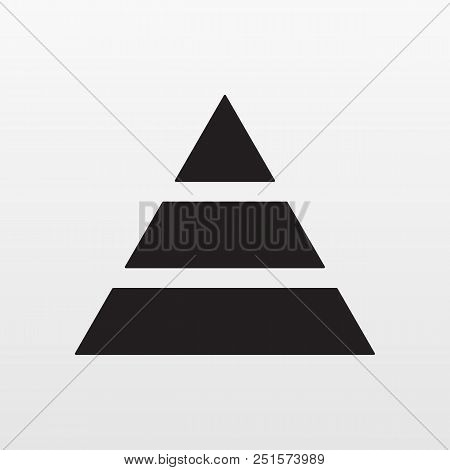 Pyramid Icon Vector. Simple Finance Pyramide Symbol. Trendy Flat Ui Sign Design. Thin Linear Graphic