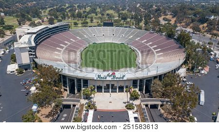 July 26, 2018 - Pasadena, California, USA: The Rose Bowl is a United States outdoor athletic stadium, located in Pasadena, California, a northeast suburb of Los Angeles.