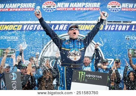 July 22, 2018 - Loudon, New Hampshire, USA: Kevin Harvick (4) wins the Foxwoods Resort Casino 301 at New Hampshire Motor Speedway in Loudon, New Hampshire.