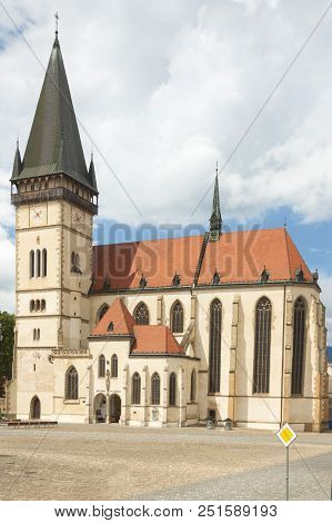 Slovakia, Prešovský Kraj, Slovakia, Bardejov, Market Square St Egidius Basilica