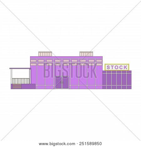 Stores And Stock Shop Building Icon Isolated On White Background. Vector Illustration For Web Or Gam
