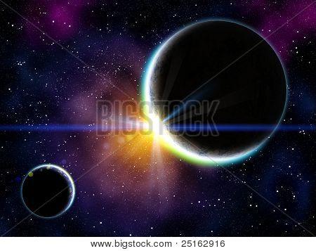Nebula And Planets