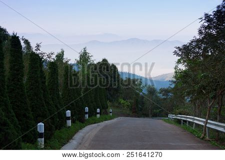 Road On The Mountains At Chiang Mai