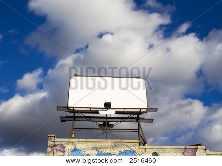 Place Your Text Here - Empty Ad Space In The Sky Horizontal