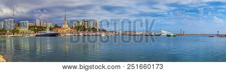 Sochi, Russia - June 4, 2015: The Water Area Of The Seaport. The Photo Shows The Central Area Of The