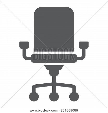 Office Chair Line Icon, Office And Work, Chair Sign, Vector Graphics, A Linear Pattern On A White Ba
