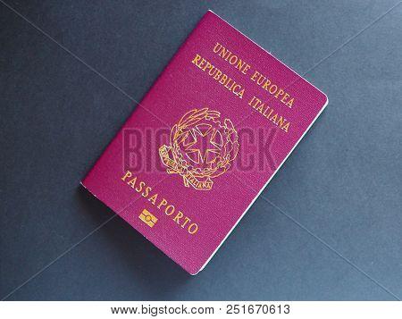 Italian Passport Document