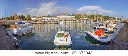 Russia, Sochi - September 5, 2015: Boats And Yachts In The