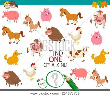 Find One Farm Animal Of A Kind Game