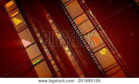 Slanting Brown Vintage Movie Tape