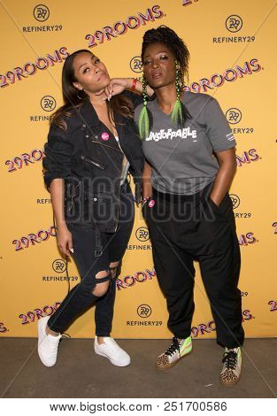 CHICAGO - JUL 25: Actresses Tai'isha Davis (L) and Yolonda Ross attend Refinery29's