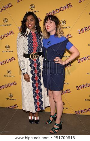 CHICAGO - JUL 25: Actress Taraji P. Henson (L) and Refinery29 co-founder Piera Gelardi attend Refinery29's