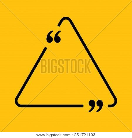 Vector Triangle Speech Bubble Quote Blank Template. Empty Quote Template. Business Card Template Inf