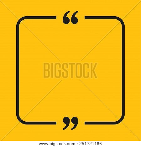 Vector Square Speech Bubble Quote Blank Template. Empty Qoute Template. Business Card Template, Info
