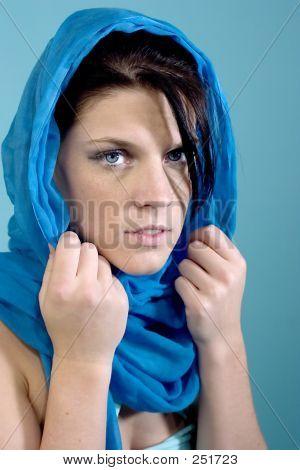 Beautiful Blue Eyes Peering